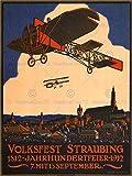 Wee Blue Coo Prints EXHIBITION AIRSHOW AVIATION BIPLANE CENTENARY GERMANY VINTAGE AD POSTER Ausstellung Ebene Deutsche Jahrgang Werbung