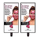 IROHA NATURE Masque visage Peel Off Talisman Shine Rose Réducteur de pores avec raisin et pommeau Lot de 2.