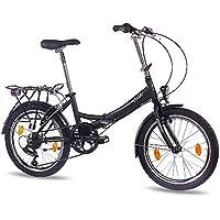 50.8 cm pulgadas bicicleta plegable bicicleta CHRISSON FOLDO con{6} cambio Shimano negro mate