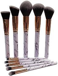 Make up Brushes, | 10 PCS | Make Up Brushes Start Makers Professional Unique Style Marble Makeup Brushes Set Cosmetic Foundation Brush Powder Brush Eyeshadow Brushes
