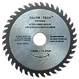 Falon Tech - Lama per sega circolare per legno, 125 mm, 40 denti