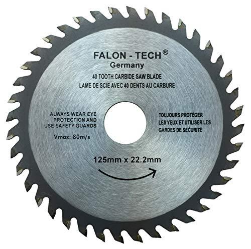 Falon Tech 125 mm 40 Zähne Kreissägeblatt für Holz Sägeblatt 125 x 22 x 40Z