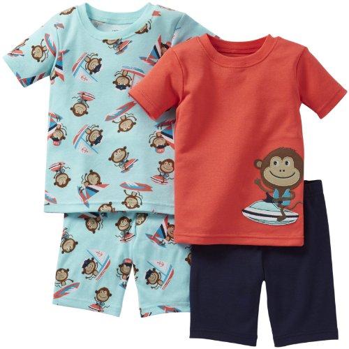 Carter's Schlafanzug 68/74 kurz 2x Pajama 4 teilig Junge Sommer Nachtwäsche US size 9 month (9 Monate) (Kurzen Schlafanzug Carters)