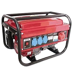 Prakat Générateur électrique à essence avec 1fiche triphasée/3fiches monophasées/1réservoir 230/380V 5500W 15l