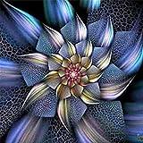 Blume Diamant Painting 5D Stickerei Gemälde Strass eingefügt DIY Diamant Malerei Kreuzstich Zeichnung Wall Decor für Home Wohnzimmer Festliche Dekor 30 x 30 cm