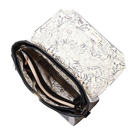 HB Style - Sacchetto donna Ragazza Bianco/Nero