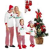 DIVAND Natale Famiglia Pigiama Abbinabile, per Coppie Signore Pigiama Abbinato Pjs per Bambini E Adulti Famiglia PJ Sets,2T(Kids)