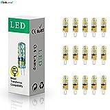 ELINKUME 15Stück LED G4 Kaltweiß Leuchte 2W Möbelleuchte Birne 24*3014 SMD Lampe AC/DC12V .