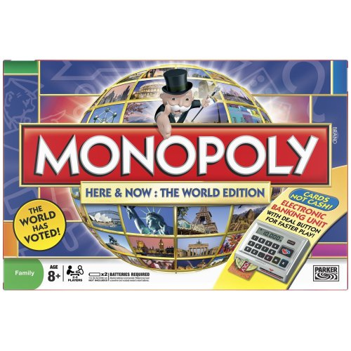 Hasbro Monopoly Here & Now: The Word Edition Brettspiel, englische Version