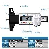 No barnd Elettronico Digitale Pneumatici profondità del battistrada Indicatori 0-25mm Compasso elettronico di Digitahi con Extra Sc LCD (Colore : Silver)