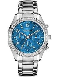 Caravelle by Bulova Women's Steel Bracelet & Case Quartz Blue Dial Chronograph Watch 43L182