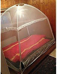 Mosquitera en forma de tienda XXL –Mosquitera para camas de Campito, 200x 150x 160cm, con 3entradas