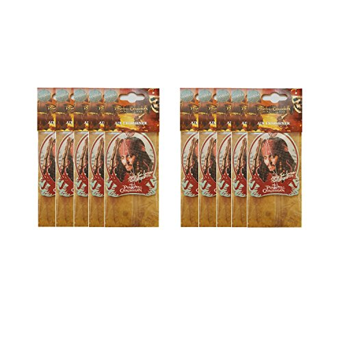 Preisvergleich Produktbild Lufterfrischer DISNEY Pirates of the Caribbean VANILLE / VANILLA Duftspender WUNDERBAUM # 10er PACK