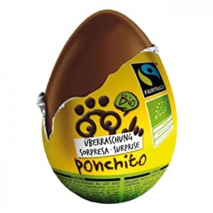 PONCHITO - Oeuf surprise bio & équitable 20 g - Alternative aux oeufs Kinder