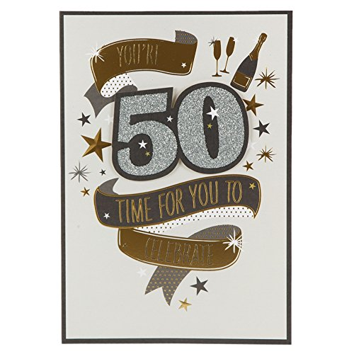 Hallmark 50th Birthday Card 'Time For You To Celebrate'