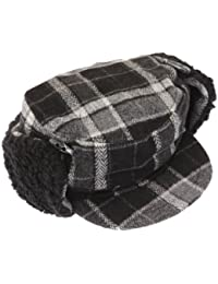 Mens Peaked Winter Thermal Trapper Hat With Quilted Inner Lining
