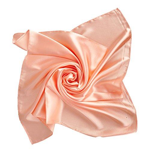 Halstuch Nickituch Tuch 60x60 Seide Blumen Pink Rosa Handtaschen Accessoire