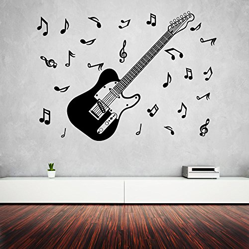 DECOR Kafe Decal Style Guitar Stings Wall Sticker Wall poster (PVC vinyl, 106 X 78 CM)  available at amazon for Rs.309