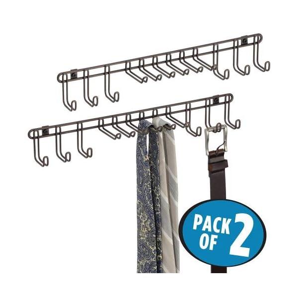 Accessori Armadio A Muro.Mdesign Set Da 2 Appendi Cravatte Da Muro Pratico Portacravatte
