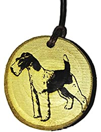 Retrosheep Fox Terrier Dog Handmade Eco Friendly Wooden Necklace Charm