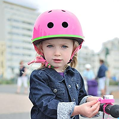 Micro Safety Helmet Neon Pink Medium For Boys And Girls Cycling Scooter Bike by Micro