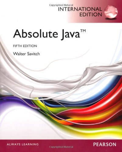 Absolute Java with MyProgrammingLab by Walter Savitch (2012-06-14)