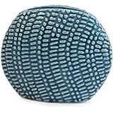 Jarrón de cerámica azul jeans de modern Vintage POMAX plana