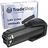 Trade-Shop Premium Li-Ion Akku 3,6V / 2000mAh für Bosch PS10, SPS10, SPS10-2, GSR Mx2Drive, GSR PRODRIVE, 36019A2010 ersetzt 2 607 336 242, 2 607 336 241, BAT504