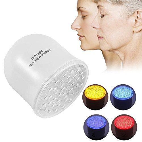 Masseur de corps avec 4 couleurs Photon Therapy, LED Photon Vibration Rajeunissement de la peau Facial Light Therapy Lampe Anti-Rides Machine pour la cellulite et excès de graisse pour le corps Raffer