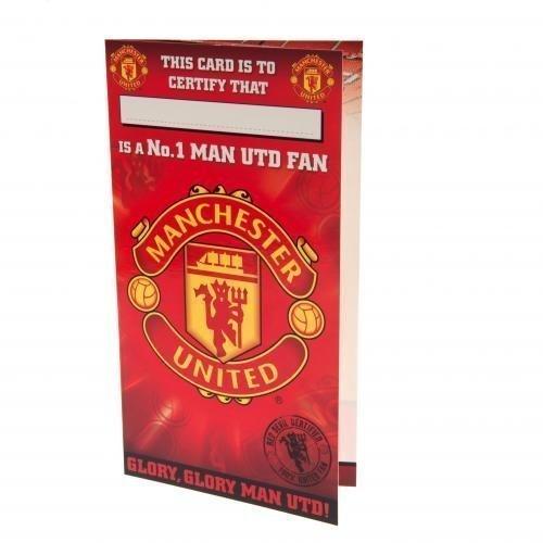 Manchester United F.C. Geburtstagskarte Nr. 1 Fan- Geburtstag Karten: ca. 22,5 cm x 12 cm-Nachricht Innen 'celebrate your birthday