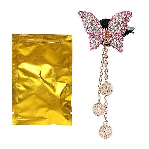 Holdream Deodorante per auto Air Vent clip farfalla decorativa per interni auto decori ros