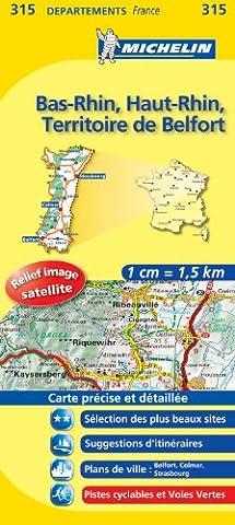 Carte Et Le Territoire - Carte DPARTEMENTS Bas-Rhin, Haut-Rhin, Territoire de