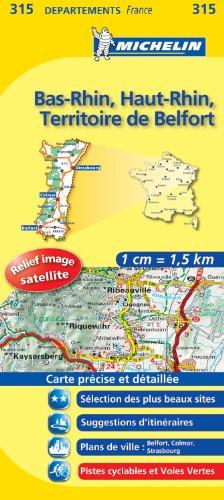 ALLENWILLER ET ENVIRONS - Carte DPARTEMENTS Bas-Rhin, Haut-Rhin, Territoire de Belfort