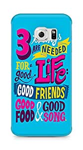 Amez designer printed 3d premium high quality back case cover for Samsung Galaxy S6 Edge (Inspirational quotes things are needed for a good life)
