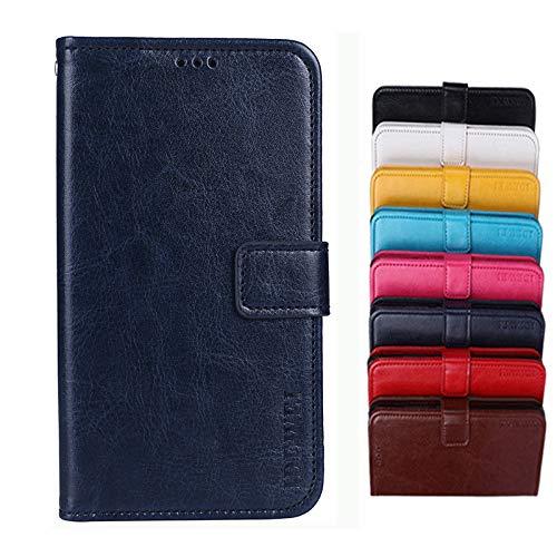 COVO® für TP-LINK Neffos C5A Hülle,Brieftasche Handyhülle,Flip Hülle Wallet Stylish mit Standfunktion & Magnetisch PUtasche Schutzhülle handyhüllen passt für TP-LINK Neffos C5A(Dunkelblau)
