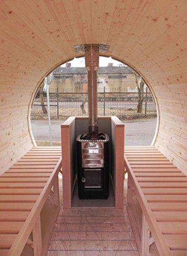 finnische sauna fass sauna f r bis zu 8 personen fass f r. Black Bedroom Furniture Sets. Home Design Ideas
