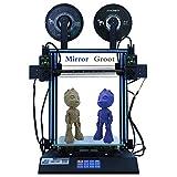 HICTOP IDEX D3 Hero Independent Imprimante 3D à Double extrudeuse, Impression Bicolore dupliquée Miroir, entraînement Direct, écran de Bureau à écran ACL de 4,3 Pouces, axe Z Double 300x300x350mm