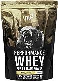 nu3 - Whey Protéines Performance / 1kg / Vanille / Proteine destinée à la prise de masse musculaire / Excellente solubilité et délicieuse saveur vanille / Haute teneur en proteines