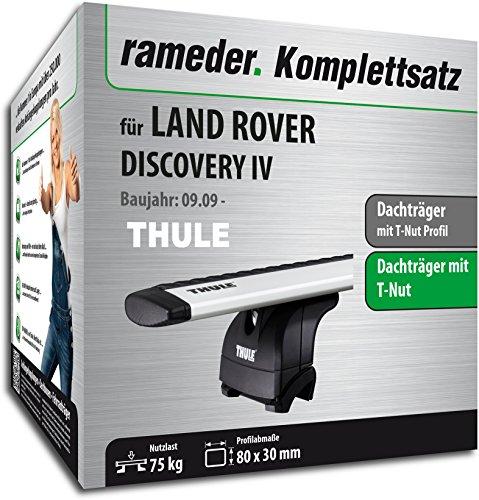 Rameder Komplettsatz, Dachträger WingBar EVO für Land Rover Discovery IV (114690-09015-1)