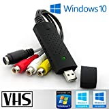 Tech Stor3 USB 2.0 Audio/Video Grabber Nuova Versione 2019, Compatibile con Windows 10 - Converte in Formato Digitale Le Videocassette - Scheda di acquisizione Video USB