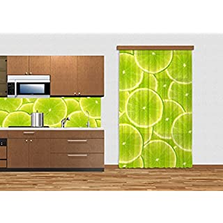 AG DESIGN Lime, Curtain, 140x245 cm, 1 Part, FCCL 4515, Polyester Multi-Colour, 0.1 x 140 x 245 cm