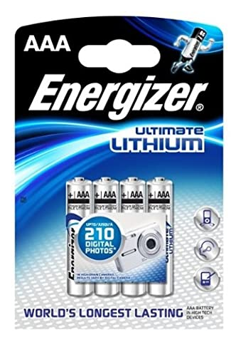 Piles Lithium Aaa - ENERGIZER Blister pack de 4 Piles Ultimate
