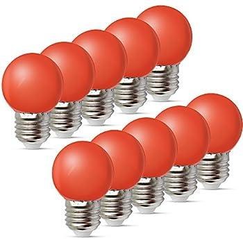 10 Stück E27 Farbig LED Leuchtmittel Birnenform Bunt