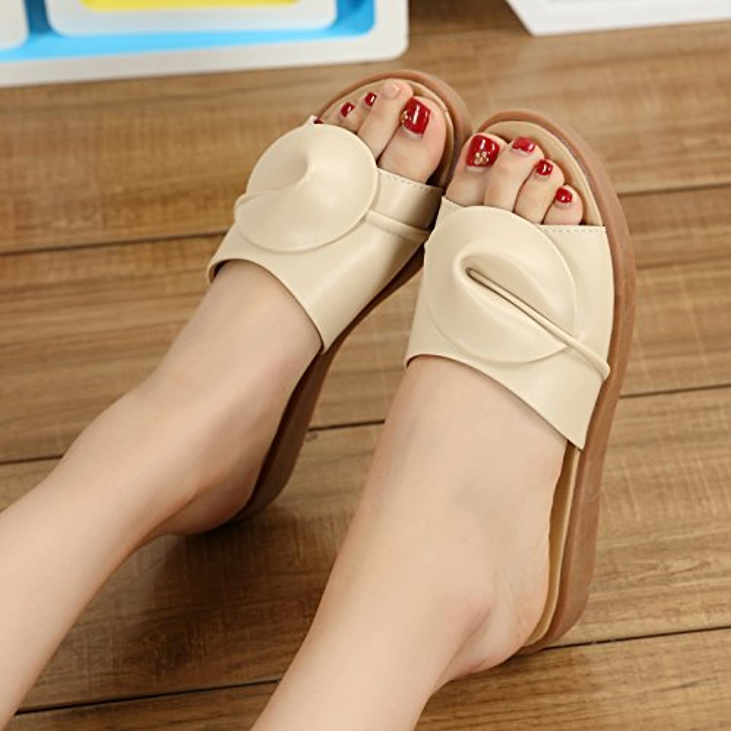 fankou Flat Bottom Cool Summer Sandals Fashion Sandals Sandals Fashion Female Stylish Outdoor Cool Slippers,35,A Color - B07CG8KXBW - 91ea92