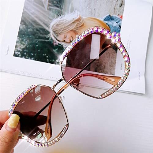 WZYMNTYJ Strass Quadrat Sonnenbrille Frauen Rosa Schwarz Klare Linse Übergroße Diamant Sonnenbrille Für Männer Vintage Shades