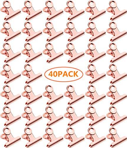old Binder Clips Mini Papier Brief Clips Metall Scharnier Clips Datei Papier Geld Klemmen für Tags Taschen, Bilder Fotowand, Geschäfte, Büro und Home Kitchen(40 Stück, 22mm) ()