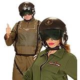 Jet Pilotenhelm Fliegerhelm Pilot mit Visier Jethelm Air Force Top Gun Piloten Helm Karnevalskostüme Zubehör Flieger Kostüm Accessoire Pilothelm Aircraft
