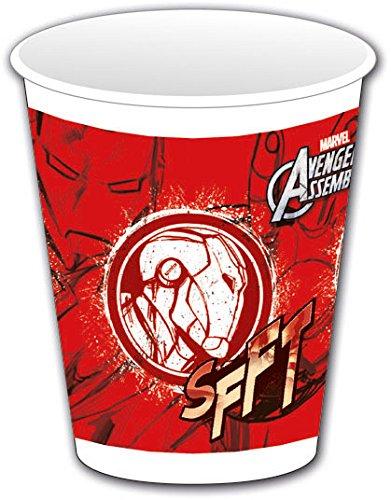 Avengers Assemble Kunststoff Tassen, 8Stück mit Iron Man (Avengers-kunststoff-cups)