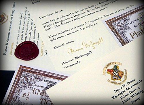 confronta il prezzo Harry Potter Lettera di Accoglienza ad Hogwarts Personalizzata miglior prezzo