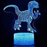 Xiaomu Lampe de Table de Nuit Veilleuse Adorable dinosaure jurassique 3D Noël Touch de Noël